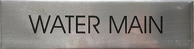 Water Main Sign Brushed Aluminum-ref-am