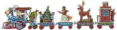 Figurine Holiday Express Train Set Jim Shore Heartwood Creek 5 Piece Christmas