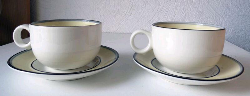 ARABIA  Finland Veranda Coffee Cup and Saucer (2), Excellent Condition