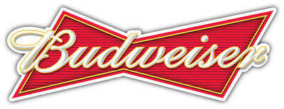 Budweiser Logo Sticker Car Bumper Decal - 3'', 5'', 6'' or 8''