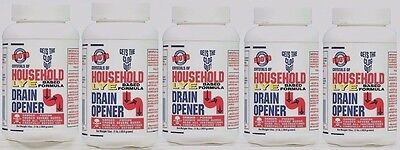 5 - 16 oz ROOTO 100% Lye Drain Opener Crystals of Household Sinks Tubs SOAP (Rooto Crystals Of Household Lye Drain Opener)