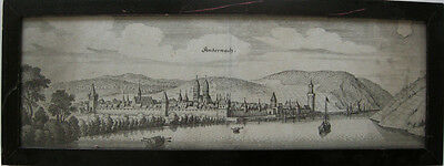 Andernach Rheinland Pfalz Orig. Kupferstich von Merian 1650 Gesamtansicht