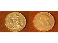 Full gold Sovereign Victoria 1901 M graduated EXTREMELY FINE