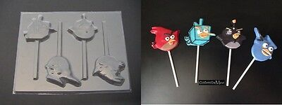 ANGRY BIRDS SPACE Chocolate Lollipop Sucker Soap Candy Mold ](Space Lollipops)