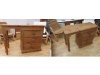 Pine Desk , solid wood
