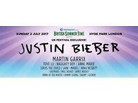 Justin bieber British summer time festival tickets