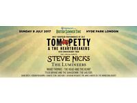 Tom Petty - single ticket for Hyde Park tonight face value