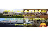 3 bedroom 8 berth pet friendly & pet free caravans for rent in Ingomells/Skegness