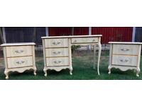 ANTIQUE FRENCH STYLE BEDROOM FURNITURE SET