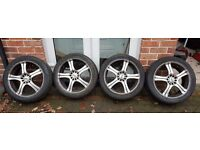 """17"""" Five Stud Multi Fit Alloy Wheels WITH Tyres"""