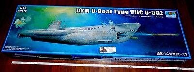 WWII german Kriegsmarine DKM U-Boat U-Boot Type VIIC U-552 1:48 Trumpeter Neu