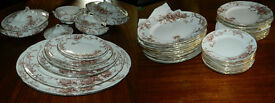 Doulton dinner service with plates and 4 tureens