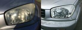 Headlight Restoration. Jaguar X-Type, 2003, 2004, 2005, 2006, 2007