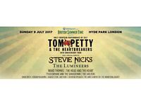 Tom Petty, Hyde Park concert ticket