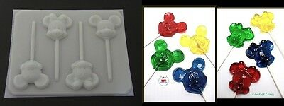 MICKEY MINNIE MOUSE FACE HEAD Lollipop HARD Candy Mold - Minnie Mouse Lollipop Mold