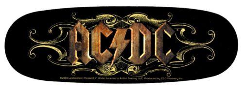 AC/DC Ornate Sticker Decal Hippie Biker Heavy Metal Rock n Roll