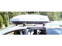 Exodus 470L Roof Box Grey + bars + footpack (Ford Escort/C-max)