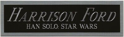 HARRISON FORD STAR WARS HAN SOLO NAMEPLATE FOR AUTOGRAPHED Signed ART-BOOK-PHOTO