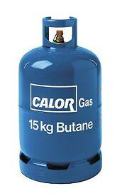 15 kg calor gas bottle about half full