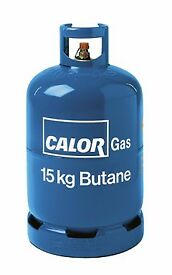 15 kg calor gas bottle half full