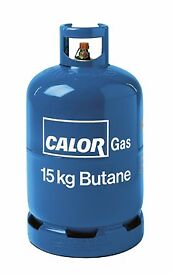 half full bottle of calor gas 15kg bottle