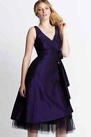 Purple prom dress, Debenhams, immaculate condition
