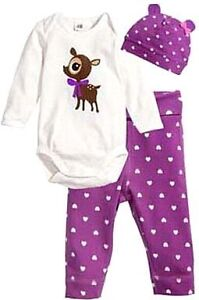 Brand New- 3 Pc Pajama Set. Fits 0-12 Months