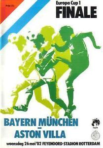 * 1982 EUROPEAN CUP FINAL - ASTON VILLA v BAYERN MUNICH *