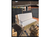 4 Foam small single mattresses for garden pallet sofas (photo to show the mattresses only)
