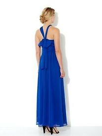House of Fraser maxi dress (blue, size 12) - perfect for summer wedding RRP £120