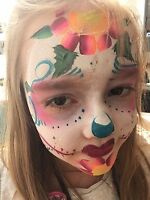Face painting, tattoos Bubble shows Balloon Figures, games ....