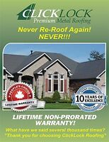 Never Re-Roof Again!  Fall Promotion - No Payments until 2016