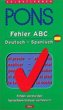Fehler ABC, Deutsch-Spanisch von Carlos Segoviano | Buch | Zustand gut