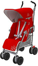 Maclaren Red/Sliver Buggy