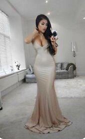 Beautiful gold prom dress size 8/10