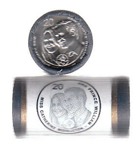 Australia 2011 Mint Roll 20 Cents Royal Wedding SUPERB