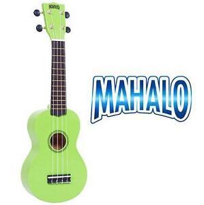 NEW MAHALO SOPRANO UKULELE GREEN RAINBOW SERIES, MUSIC, INSTRUMENTS 100295249