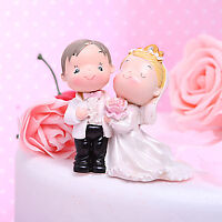 Bride & Groom Figurine Wedding Cake Topper