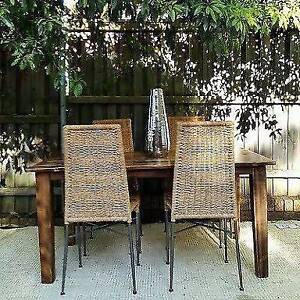 8 seater mango wood solid timber dining table Ormeau Gold Coast North Preview
