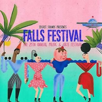 X3 day falls festival Byron bay ticket
