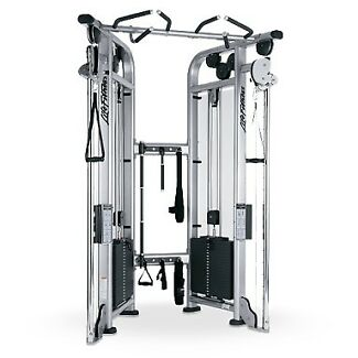 Platinum silver Life fitness dual pulley