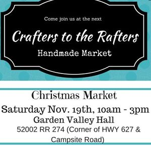 CRAFTERS TO THE RAFTERS Holiday Market Spruce Grove