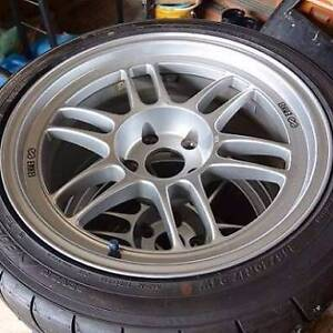 Enkei RPF01 17x9 +35 5x100 Silver with tyres Sutherland Sutherland Area Preview