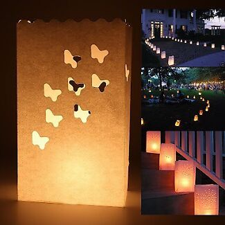 Tea Light Candle Bags for Wedding Party Reception Baby Shower Decor