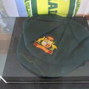 David Warner Signed Baggy Green Townsville Townsville City Preview