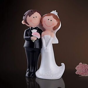 Bride & Groom Figurine Wedding Cake Topper - H7-7/8""