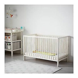 Ikea Gulliver Convertible Cot + Matress + Bedding £60