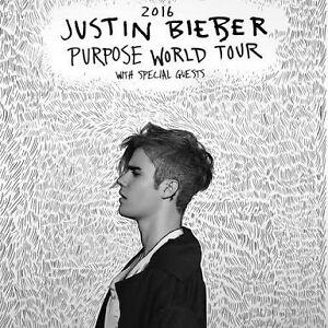 Justin Bieber réserve B ticket x3 Coromandel Valley Morphett Vale Area Preview