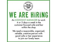 Assistant Manager Wanted for Small Vegetarian Cafe & Bar, Hay-on-Wye