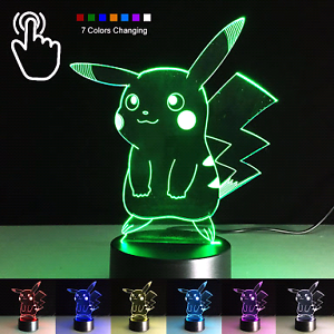 2x Pokémon lamps  (Pikachu and Charmander) Angle Park Port Adelaide Area Preview